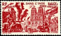 French Indian Settlements 1946 Airmail - From Chad to the Rhine 25f.jpg