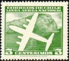 Chile 1960 Airmail - Aircrafts 5c.jpg