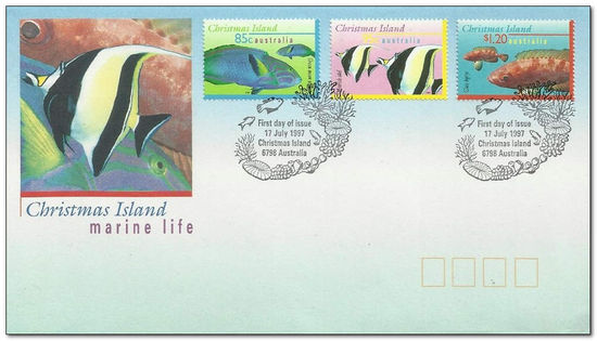 Christmas Island 1997 Fish fdc definitive fdc.jpg