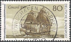 Germany-West 1983 First Settlers in America 80pf.jpg